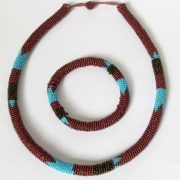 bronze-and-blue-zulu-beaded-necklace