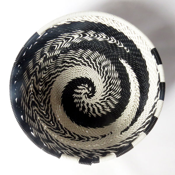 Telephone wire bowl extra small round bowl black and white zulu south africa