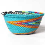 Telephone wire bowl extra small round bowl turquoise multicolour  zulu south africa