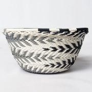 Telephone wire bowl extra small round bowl black white  greyzulu south africa