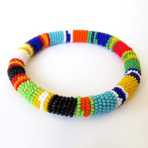 African Zulu beaded round bracelet - Multicolour ONE