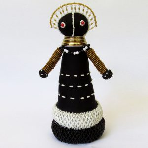 African Ndebele Doll - Small (Bottom Beaded)