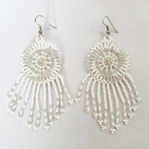 African Zulu beaded earrings - Dreamcatchers (Small) – Cloud collection